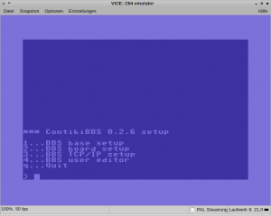 Contiki BBS Setup